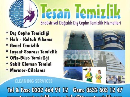 İzmir  Temizlik Tesan Temizlik  Cem Temizliğicephe Temizlik Yüksek Binalar Cephe Temizliğiğ