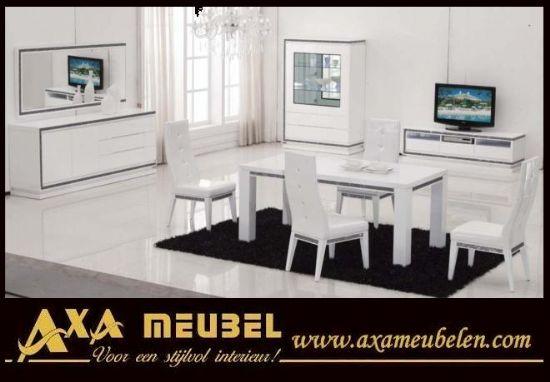 Avangard Mobilya Beyaz Swarovski Taşlı Yemek Odası Ev Eşyası
