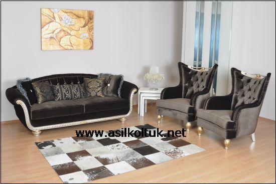 Siyah  Kumaşlı Avangart Koltuk Modeli