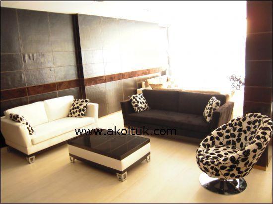 Salon Takımları Siyah Beyaz Siyah Beyaz çiçekli Salon