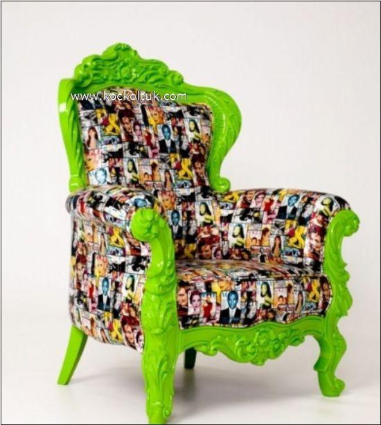 Dekoratif Rahat Farklı Tasarım Berjer