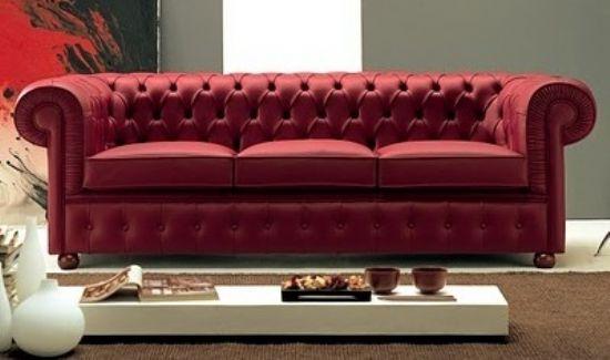 Kırmızı Chester Modern Koltuk