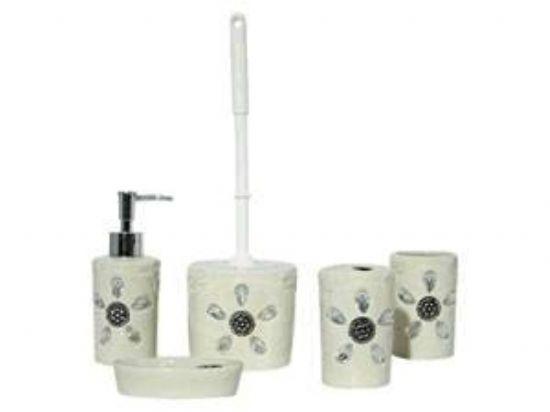 Porselen Taşlı 5 Parçalı Banyo Seti İnanılmaz Fiyata