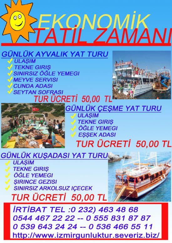 İzmir Çıkışlı Günlük Ayvalık Kuşadası Çeşme Tekne Turları