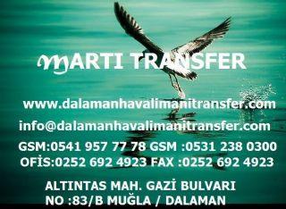 Martı Transfer,dalaman Havalimanı Ekonomik Ucuz Transfer
