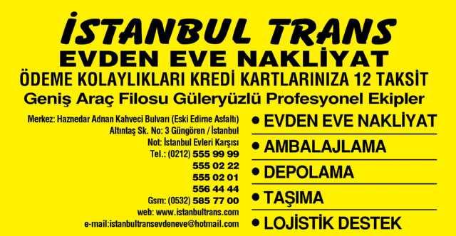 İstanbul Trans Evden Eve Nakliyat,şehiriçi Ve Şehirler Arası,evden Eve,nakl