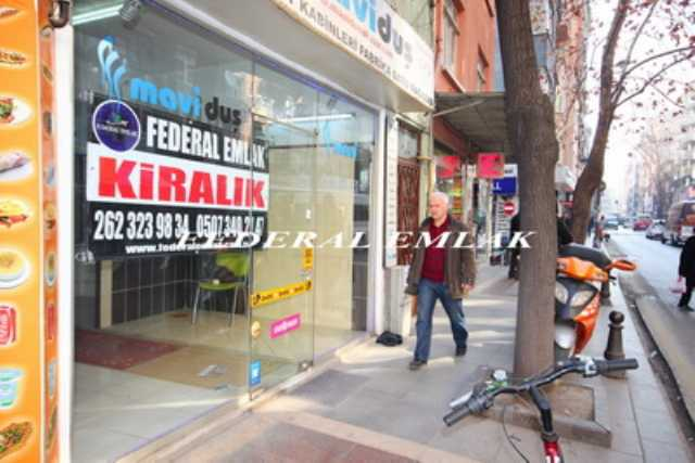 Federalden Kocaeli İzmit Merkezde Kiralık Dükkan