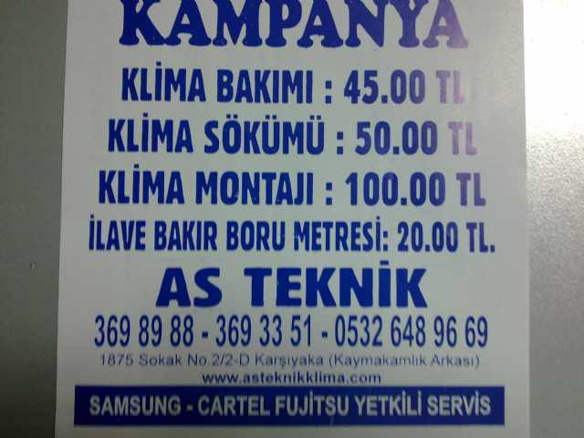 Bostanlı Mavişehir Klima Servisi 3698988-fujıtsu Daıkın Arçelik Vestel Sams