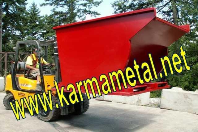 Karma Metal  Forklift Devirme Tertibatlı Konteyner Ve Hurda Tasıma Kasası