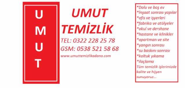 Umut Temizlik : 0322 228 25 78 Adana Temizlik Şirketleri
