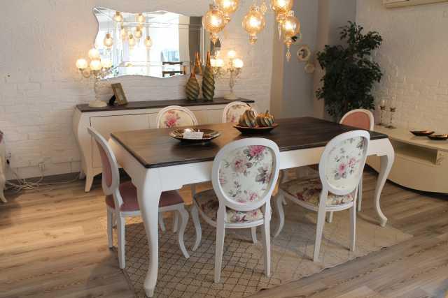 country yemek odası, masa, tv ünitesi, konsol, sandalye