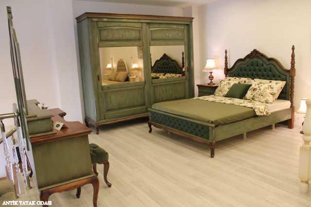 Country Yatak Odaları Tamamı Ahşap Mobilyalar