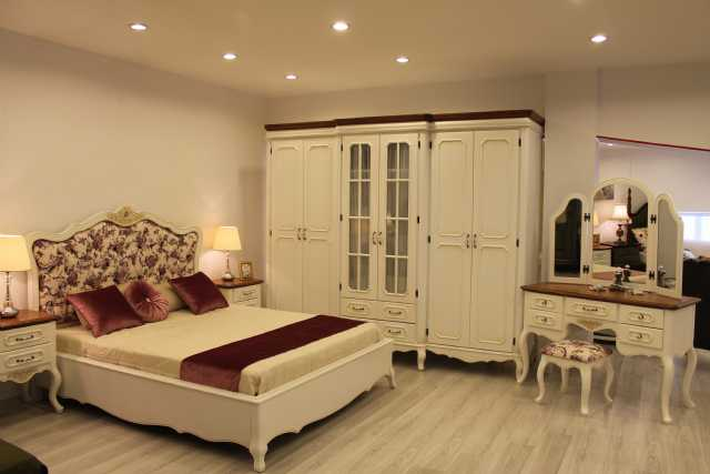 country yatak odaları, gardolap, şifonyer, makyaj masası, karyola, başlık, cibinlik