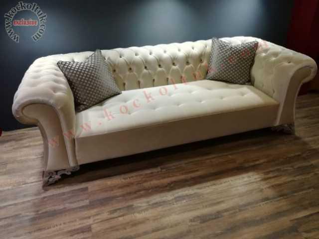 chester üçlü koltuk, kanepe, koltuk, üçlü koltuk, kadife kumaş chester koltuk