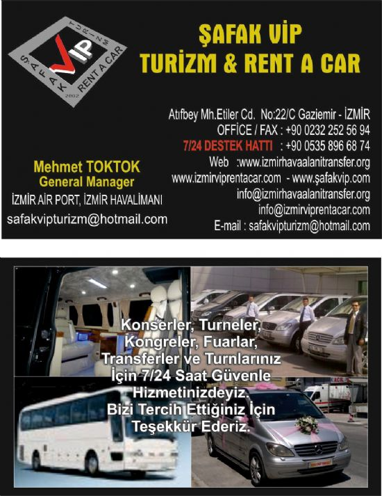 Şafak Vip Turizm &rent A Car