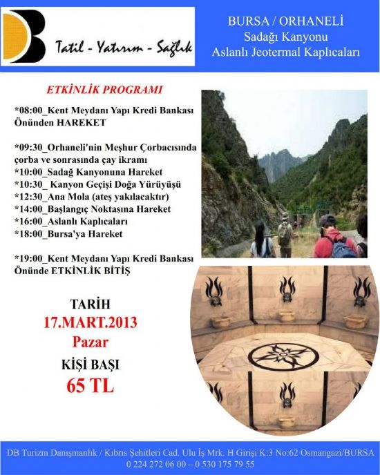 Bursa Orhaneli Günübirlik Pazar Turu