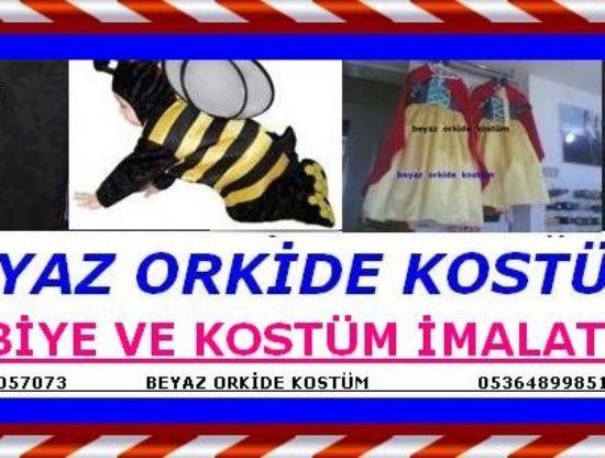 Antalyada Beyaz Orkide Kostüm, Antalyada Beyaz Orkide Kostümde 23 Nisan İçin Gösteri Kıyafetlir Hazırlanır