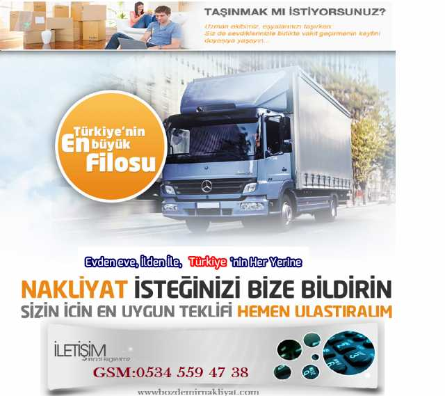 Esenyurt Nakliye Kamyonet 0534.559.47.38 Bozdemir Nakist