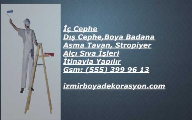 İzmir Boya Ustası Alçı Sıva Stropiyer Asma Tavan