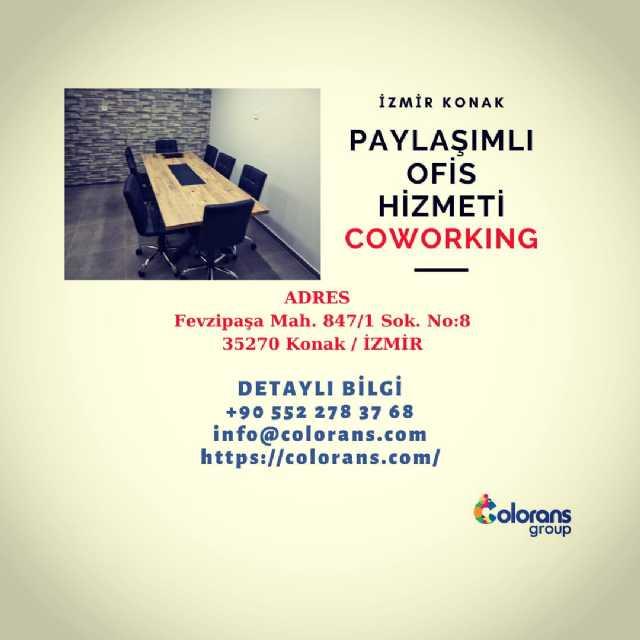 İzmir Konak Merkezde Paylaşımlı Ofis