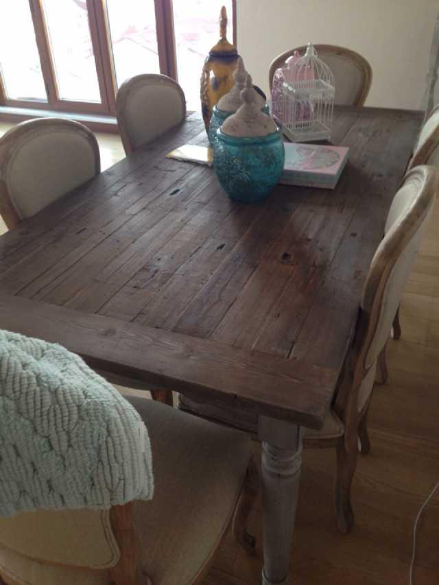 Country Yemek Odası Masa Sandalye