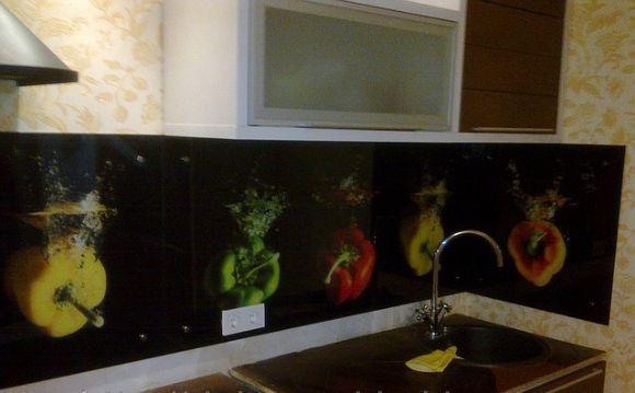 Mutfak Cam Panel Polimerik Cambaskı Manzara Mutfak