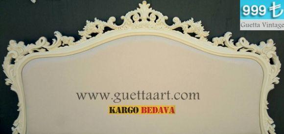 Krem Vintage Yatak Başlık Modelleri,guetta Art
