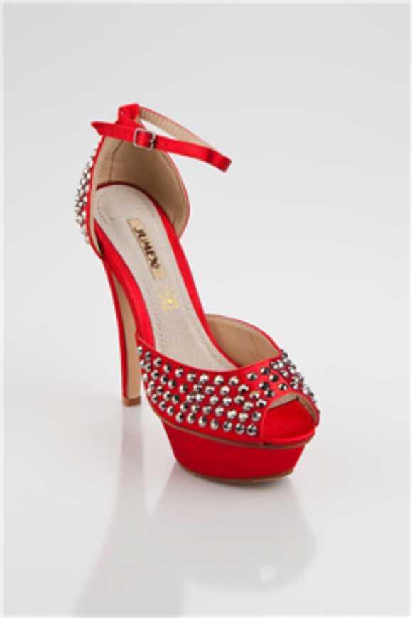 Bayan Abiye Kırmızı Ayakkabı