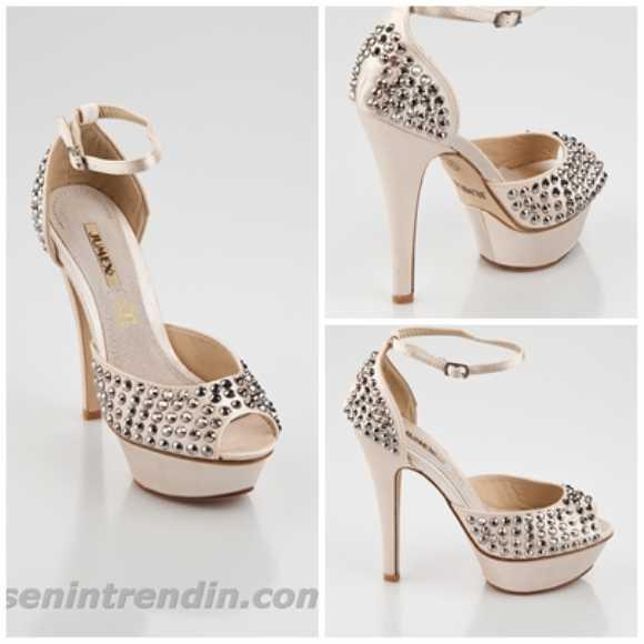Jumex Yk 2312 Bayan Gümüş Abiye Ayakkabı Şık Tasarım Kaliteli İthal