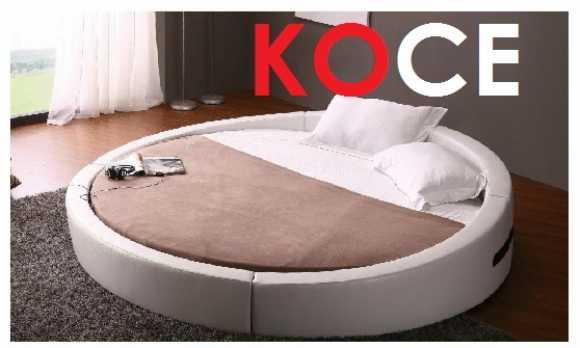 Nehir Yuvarlak Yatak Seti-modern Yatak Odası Setleri İstenilen Ölçü Ve Renk Uyumu
