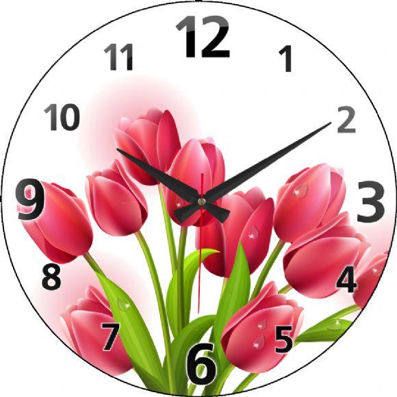 Çiçekli Duvar Saati - Revello Duvar Saatleri