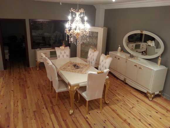 avangarde yemek odası,salon takımı,beyaz yemek odası,ahşap oyma,