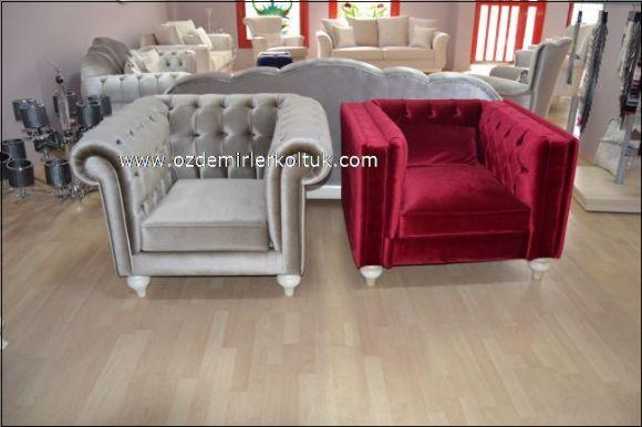 Kırmızı Beyaz Sarı Chester Koltuk Modelleri Özdemirler Koltuk Modoko