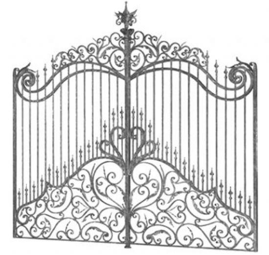 Ferforje Bahçe Kapı İşleri Ferforje Kapılar