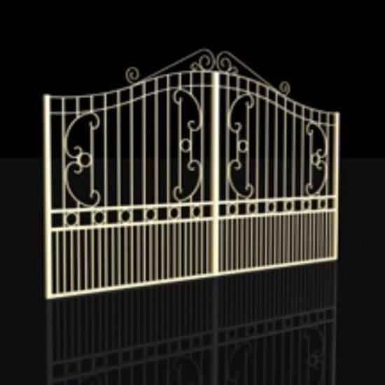 Ferforje Bina Bahçe Kapıları Ferforje Kapı Modelleri
