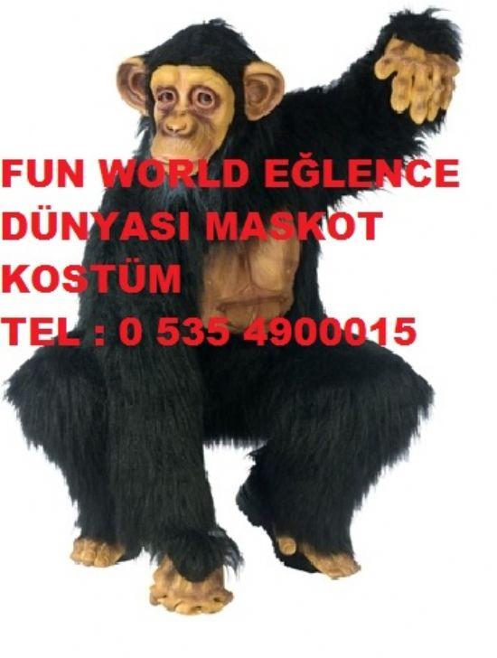 Şempaze Kostüm Maymun Kostüm Goril Maskot Çoçuk Panayırı Etkinlik Festival Geleneksel Okullar Kreşler İstanbul Ankara İzmir Bursa İskenderun Hatay