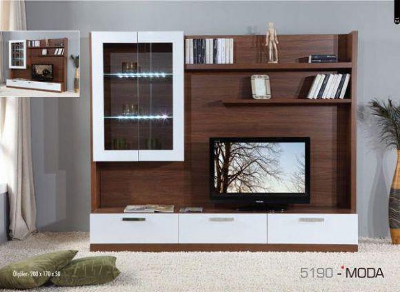 Moda Tv Ünitesi   G 2070 Mm  D 480 Mm  Y 1800 Mm