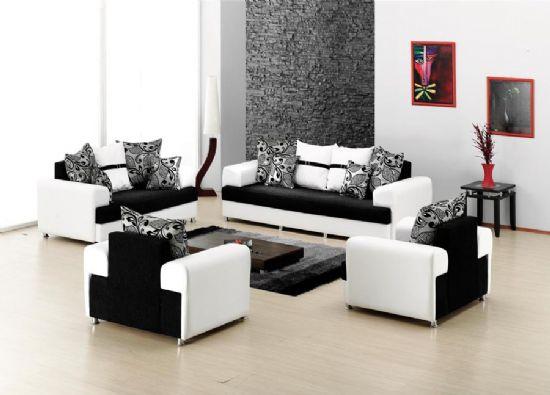 Modern Yatakli Koltuk Takimi Siyah Beyaz Yeni Tarziniz
