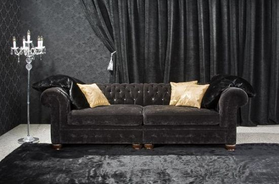 Siyah chester koltuk takımı siyah chester kanepe chester kanepe