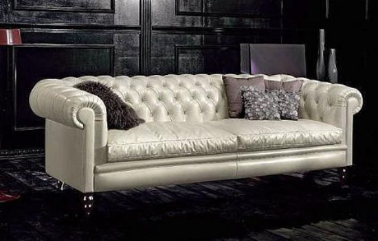 Beyaz Chester Koltuk Takımı Deri, Deri Ve Kumaş Seçenekleri, Uygun Fiyatları