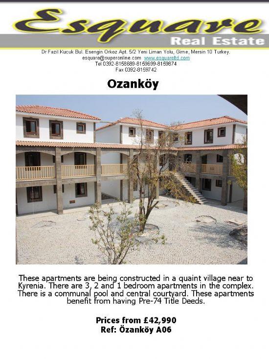 kuzey kıbrıs ozanköyde satılık daire, satılık ev, satılık villa satılık arazi
