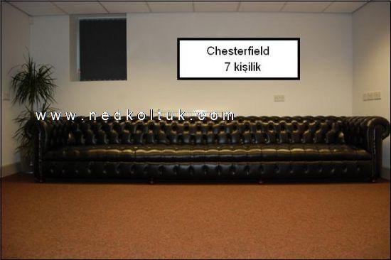 Chesterfield Kanepe Chesterfield Koltuk Uzun Ölçülü 7 Kişilik Chesterfield Koltuk