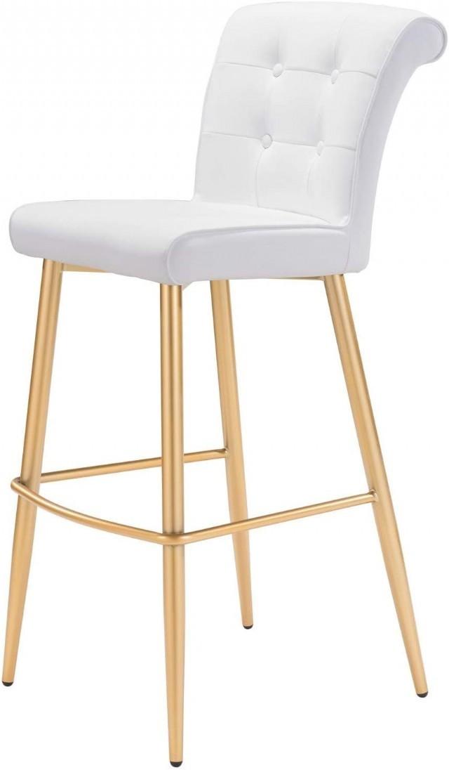 Altın Renk Amerikan Bar Sandalyesi Uzun Yüksek Ayaklı Modern Tasarım