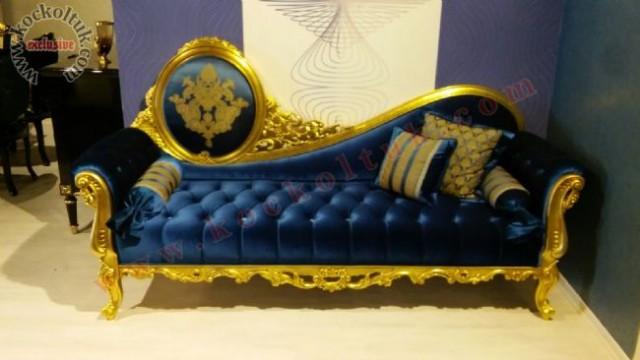 Altın Varak Oymalı Josefin Koltuk