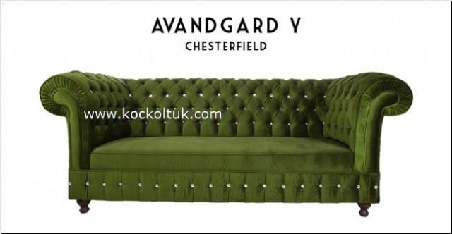 Avangard Yeşil Chester Field