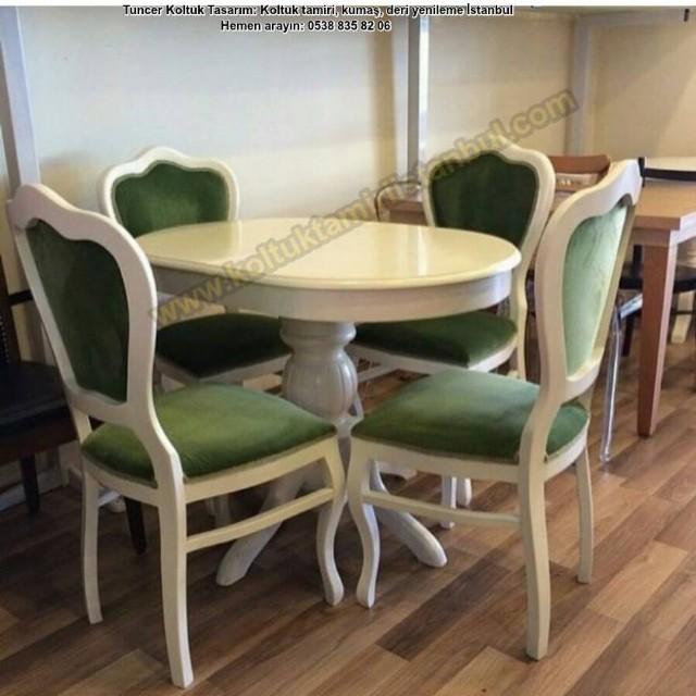 Bostancı Nazlı Hanımın Masa Sandalye Cila Renk Yenilemesi