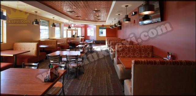Cafe Resterant Koltukları Kişilik Sedir Koltuk Düz Sedir Koltuk Modeli