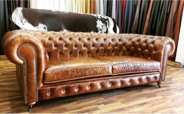 Deri Chester Koltuk Takımları Chesterfield Sofa Models Producer