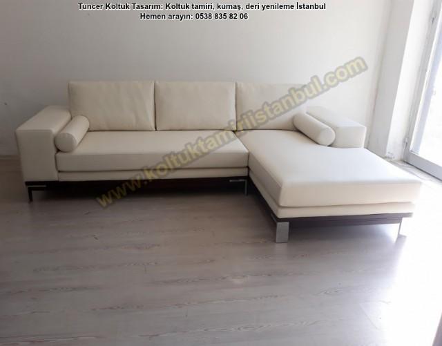 Deri Koltuk Köşe Takım Soyak Yenişehir Kibele Evleri Celal Beyin İtalyan L Modeli İşlemi Uygulandı.