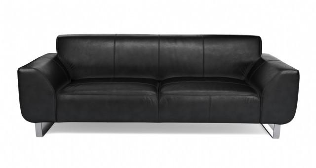 Deri Koltuk Modeli Kişiye Özel Gerçek Deri Modern Kanepe Özel Üretim Siyah Renk Gerçek Deri Modern K